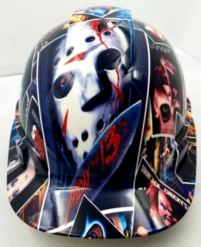 Hard Hat custom hydro dipped , OSHA approved HORROR SHOW SCARY NEW SICK