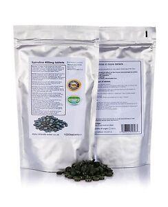 Spirulina-Compresse-1000-x-400mg-100-OGM-SENZA-purificante-dieta-perdita-peso