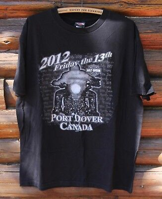 Harley Davidson Motorcycle Port Dover Canada Friday The 13th T-Shirt 2012 XL + for sale  Canada