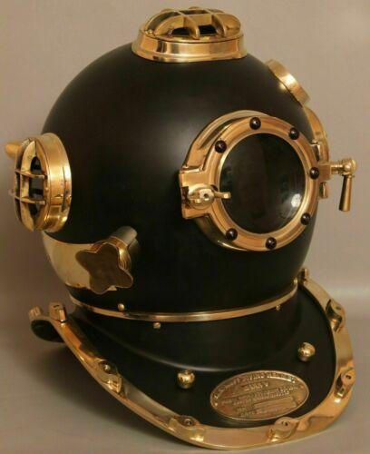 Vintage Brass Diving Helmet Boston Scuba London Marine Navy Scuba Divers Helmet
