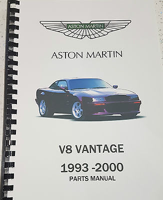 ASTON MARTIN V8 VANTAGE (VIRAGE) 93-00 PARTS MANUAL REPRINTED A4 COMB BOUND 321
