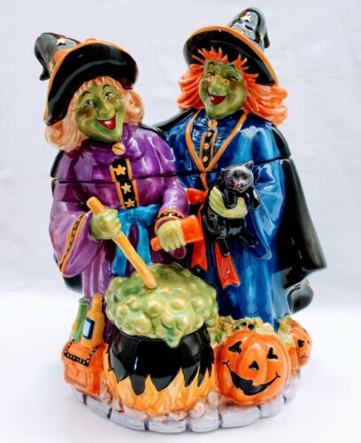 ASTOR LANE WITCH WITCHES LARGE CERAMIC COOKIE JAR HALLOWEEN