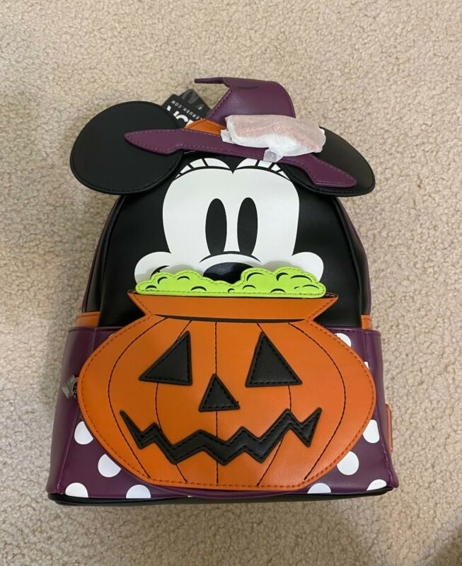 Loungefly x LASR Exclusive Disney Minnie Witch Cosplay Mini Backpack🔥IN HAND!🔥