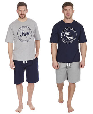 Cargo Bay Mens French Terry Shorts and T-Shirt Lounge Pyjamas Set French Terry Short Set