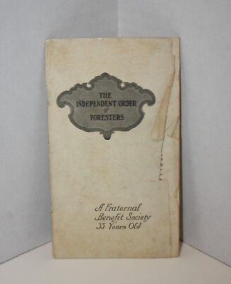 Independant Order of The Forresters Handbook Established 1874 Membership App