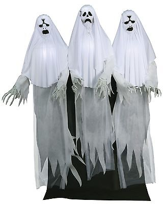 Halloween Lifesize Animated SCARY HAUNTING GHOST TRIO Prop Haunted House NEW - Ghost Prop