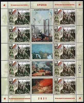 1647 - Serbia 2021 - 80 Years Since the Serbian Uprising - MNH Mini Sheet