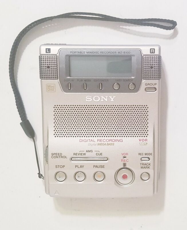 Sony Minidisc Player Recorder MZ-B100 Great Condition SEE VIDEO DEMO IN DESC
