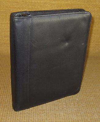 Classic 1.125 Rings Black Leather Franklin Coveyquest Zip Plannerbinder Usa