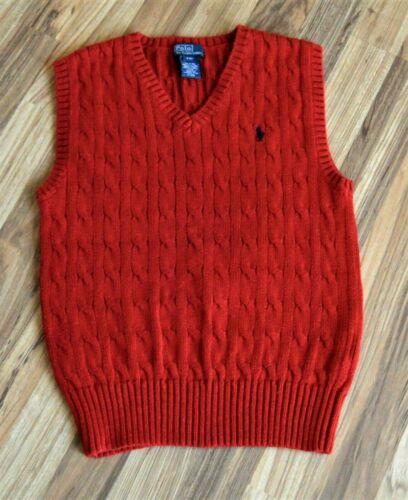 Polo Ralph Lauren Red Sweater Vest Boys Sz S ( 8 )