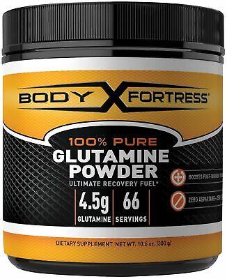 Body Fortress 100% Pure Glutamine Powder, Supports Post Work
