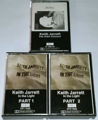 KEITH JARRETT 3 TAPE CASSETTE LOT KOLN CONCERT IN THE LIGHT ECM RECORDS JAZZ VTG