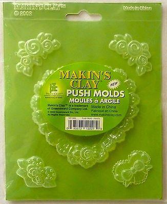 MAKIN'S CLAY PUSH MOLDS Hearts Polymer >NEW<