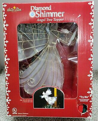 """Lovely Christmas 10"""" Angel Light Up Tree Topper by Brite Star"""