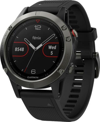 Garmin Fenix 5 Smartwatch 47mm Fiber-Reinforced Polymer Slate Gray Black Band