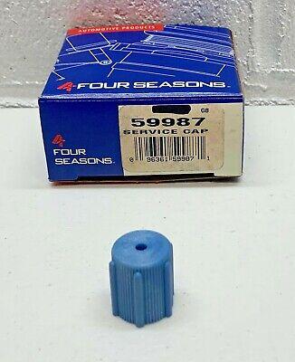 59987 A/C Charge Port Service Cap Four Seasons Blue Low Side M8x1.0 for R134A