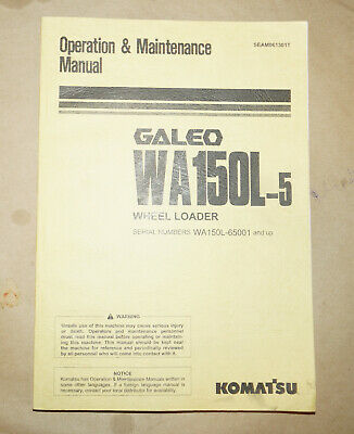 2004 Komatsu Wa150l-5 Wheel Loader Operation Maintenance Manual Pn Seam061301t