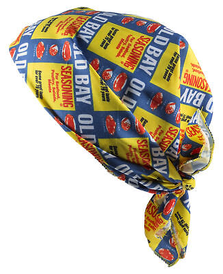 Old Bay Seafood Seasoning Licensed Old Bay Can Pattern Polyester Bandana ()