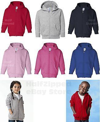 Rabbit Skins Toddler Hooded Full-Zip Sweatshirt 3346 Hoodie 2T 4T 5/6 NEW ()