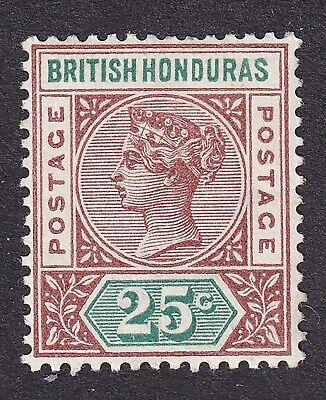 British Honduras 1891 25c brown/green  mint hinged