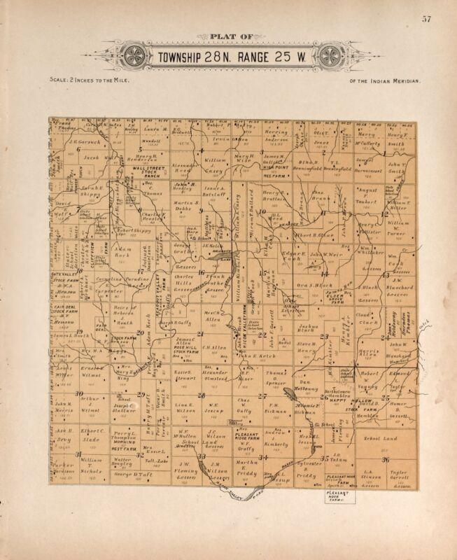 1910 HARPER COUNTY Atlas plat maps OKLAHOMA GENEALOGY history Land DVD P138