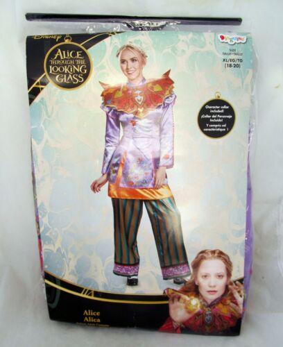 Disney Halloween Costume Alice in Wonderland Through Looking Glass Adult Size XL