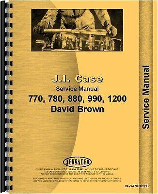 Case David Brown 770 780 880 990 1200 Tractor Service Repair Manual