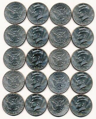 1996 P KENNEDY HALF DOLLAR ROLL 20 COINS $10 ROLL