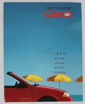 GM 1992 Geo Storm Prizm Metro Tracker Sales Brochure / Literature