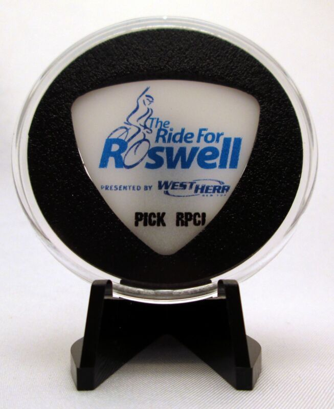Ride For Roswell Park Cancer Institute RPCI Guitar Pick W/ Display Case & Easel