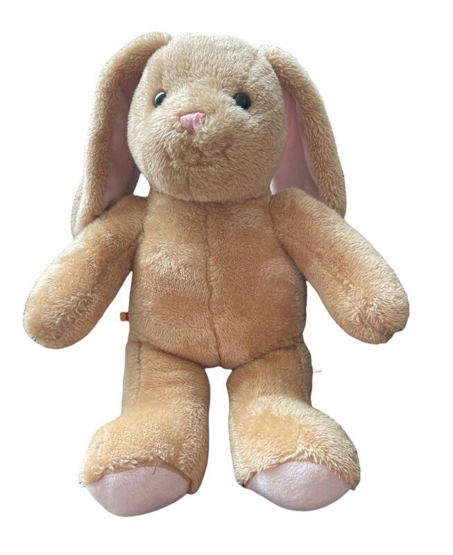 2013 Build A Bear Brown And Pink Bunny Rabbit Plush