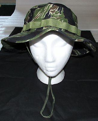 BOONIE HAT, ORIGINAL TIGER STRIPE 100% COTTON RIPSTOP, R&B, SZ. 7 1/2 (LG)  NEW! Original Tiger Stripe