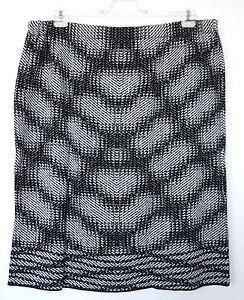 Talla-especial-Mujer-Falda-de-punto-en-la-moda-Diseno-negro-blanco-58-60-62