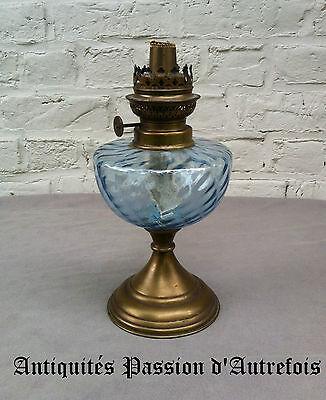 B20141050 - Lampe à pétrole en cuivre et verre pour déco - pas de globe