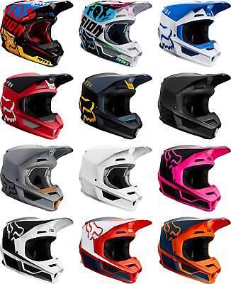 Fox Racing V1 Helmet - MX Motocross Dirt Bike Off-Road ATV MTB Adult Gear - Fox Atv Gear