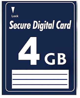 4GB SD Speicherkarte Secure Digital Card 4 GB Karte NEU normale SD Karte ohne HC - Sdhc Secure Digital Hc Karte