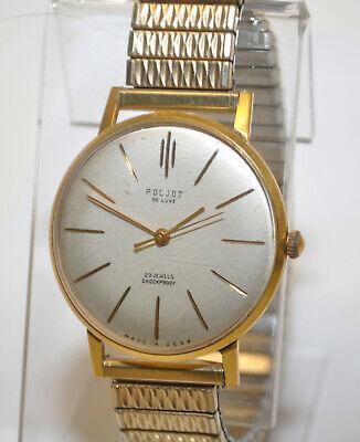 1970's Soviet USSR Poljot de luxe 23 jewels Shockproof Cal.2209 slim Dress Watch