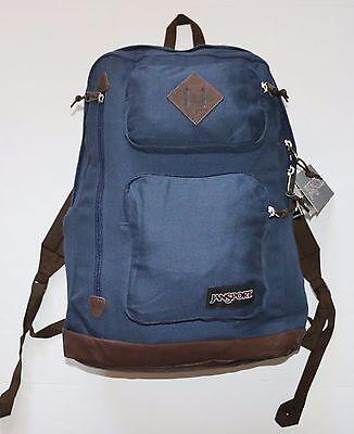 "New Jansport Austin Backpack Rucksack School Hiking 15"" Laptop Sleeve Blue"