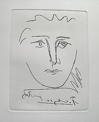 Pablo Picasso POUR ROBY Restrike Etching Signed in the Plate Mint Condition! for sale  Shipping to Ireland