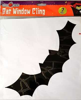 Halloween Bat Silhouettes Window Cling Decoration - 2 Pack Spooky Atmosphere - Halloween Window Silhouettes Bat