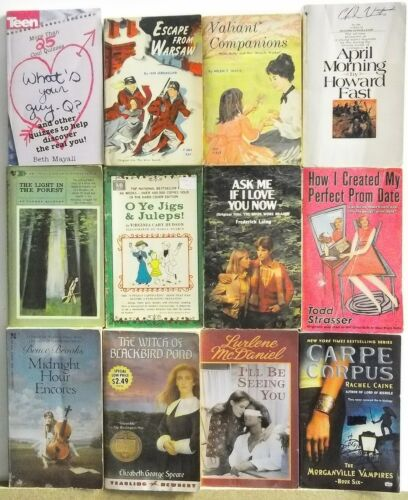 12 YOUNG ADULT Books Novels FREE US S/H Read List Lot #H507 TEEN GROWING UP