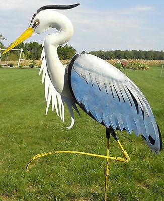 Large Heron Yard Art 3D Decor Metal ...