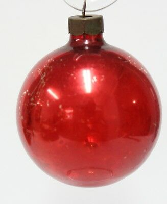 Solid Red Glass Ball Hand Blown Christmas Tree Decoration Ornament  ()
