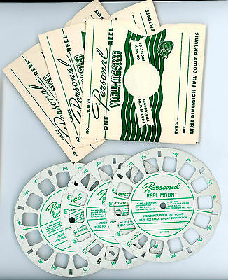 ViewMaster Personal Camera Mounts - 3 with Envelopes -UNUSED