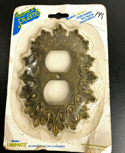 Vintage Angelo Ornate Metal Double Wall Outlet Switch Plate