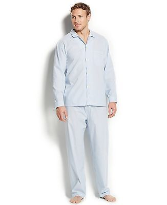 $154 CLUB ROOM Mens PAJAMA SET SHIRT PANTS Blue WHITE Stripe LOUNGE SLEEPWEAR S