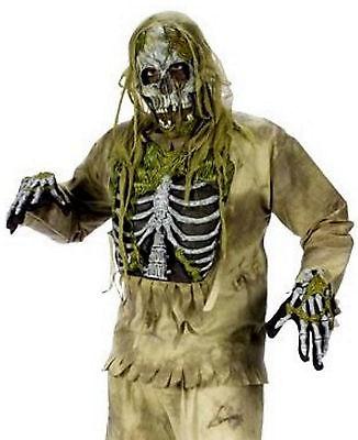 D Mens kostüm Ghost, Halloween Kostüm Maske S-XL Undead Horror (Kostüme Halloween D)