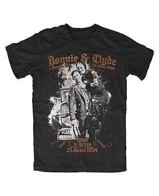 Bonnie und Clyde premium T-Shirt Pärchen Gangster Oldschool Mafia