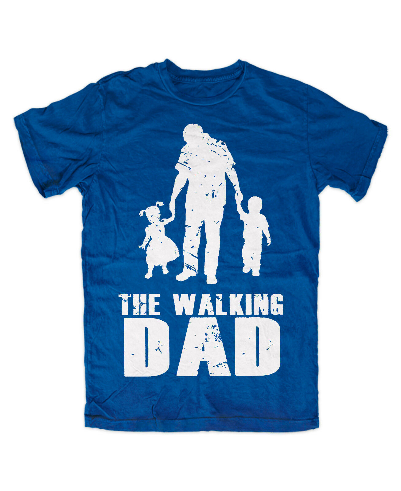 The Walking DAD T-Shirt BLAU Vater Spruch Fun Kult Familie PAPA Superheld