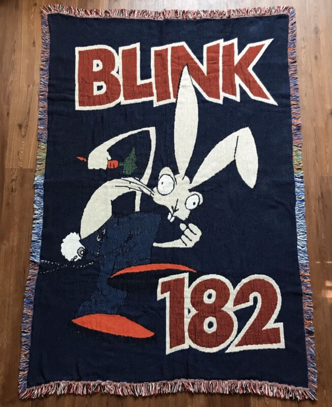 Blink 182 - Bunny Rabbit Throw Blanket -
